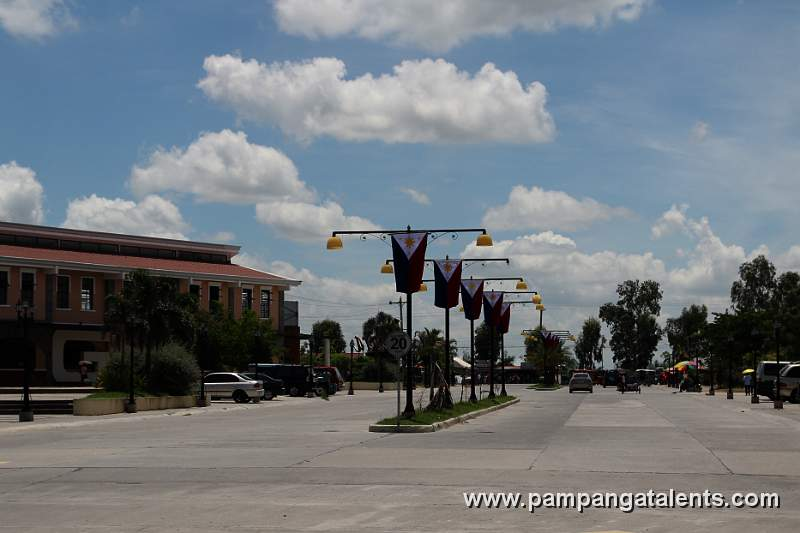 Philippine Flags on Lamp Post