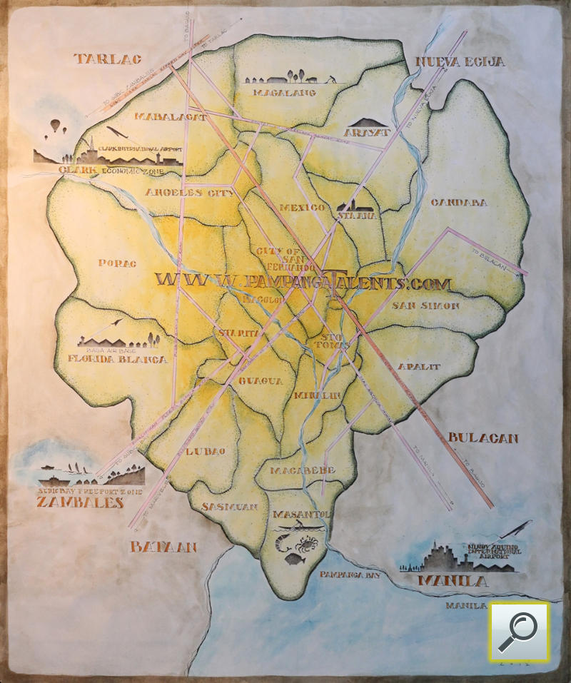 Art Map Of Pampanga Philippines